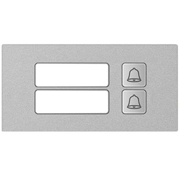 Modul 2er Klingel - Hybrid Türsprechanlage