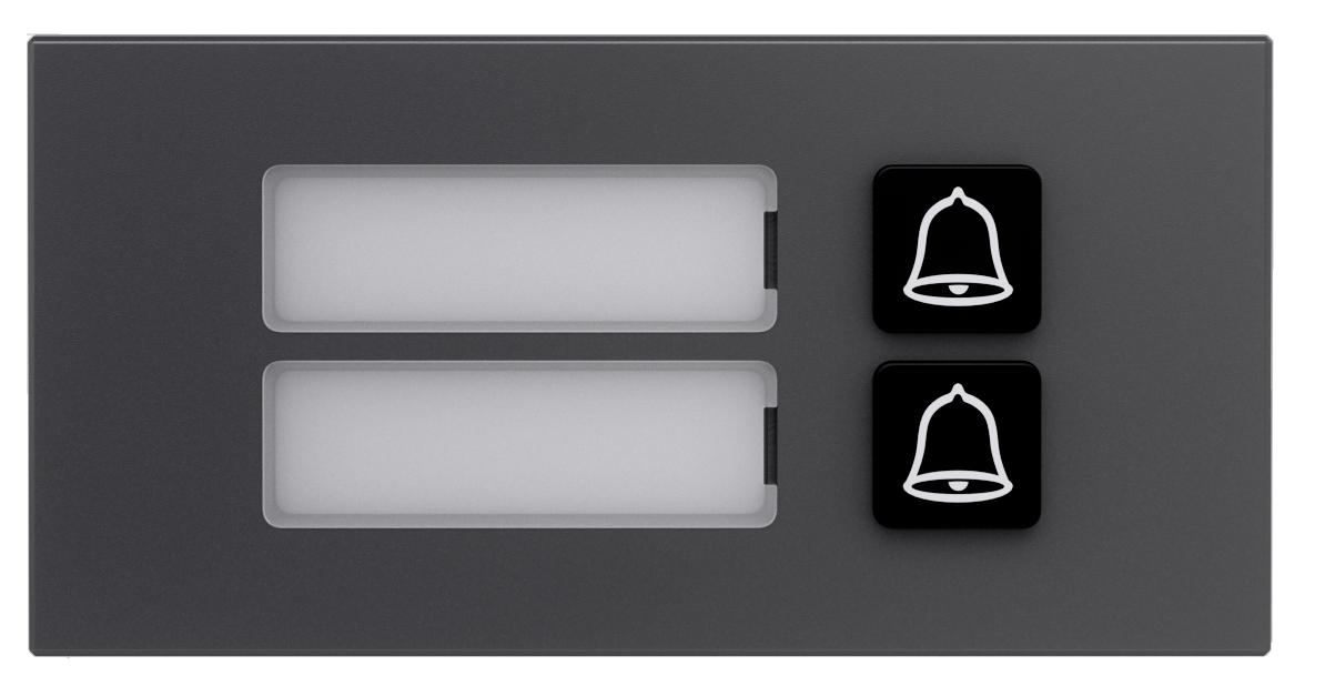 Modul 2er Klingel - Hybrid Türsprechanlage Anthrazit