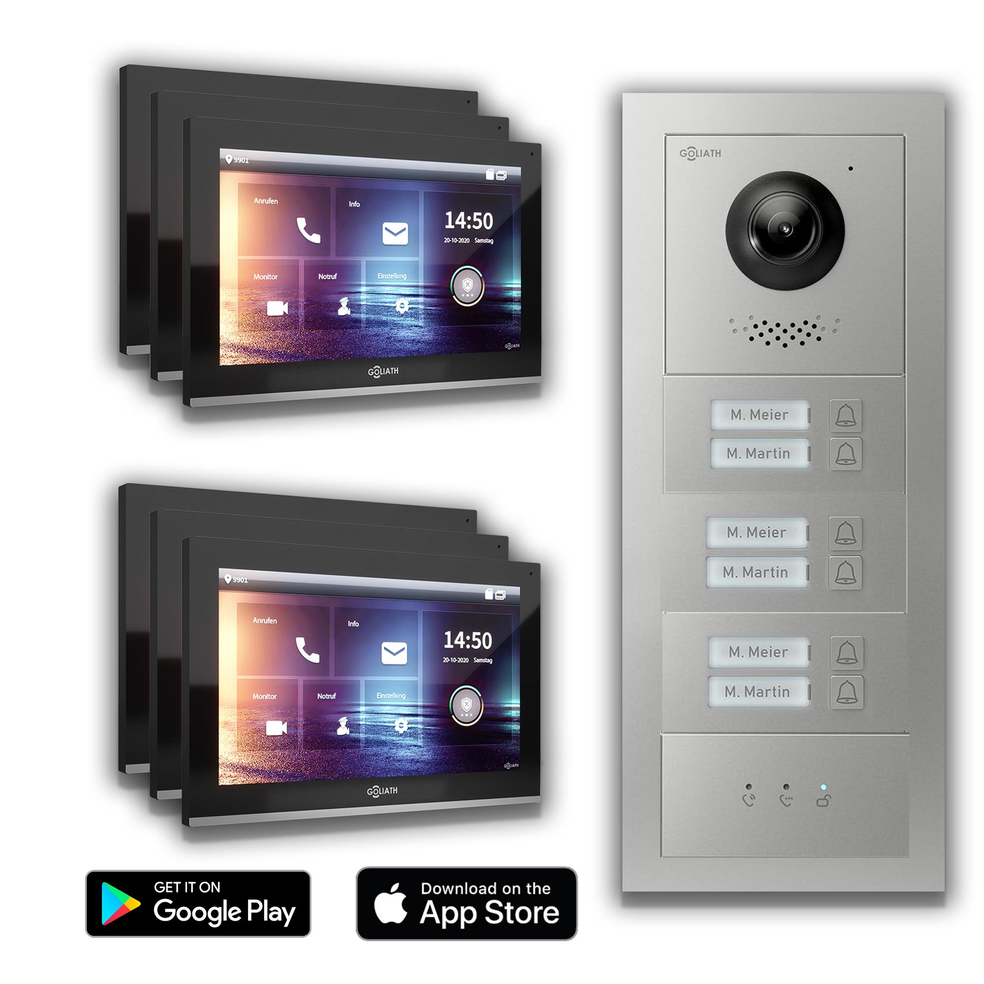 IP Türsprechanlage 6-Familielienhaus Handy App